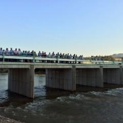 Inaugurado el nuevo puente de la vía Larva-Collejares, que evitará cortes de tráfico en este punto ante fuertes lluvias