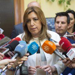 """Díaz denuncia el """"maltrato, agravio y atropello"""" que suponen los PGE para Andalucía"""